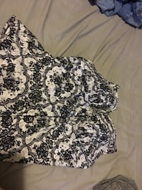 Women's black and white floral swimsuit