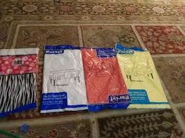 Plastic table covers yellow red white and semi color ones