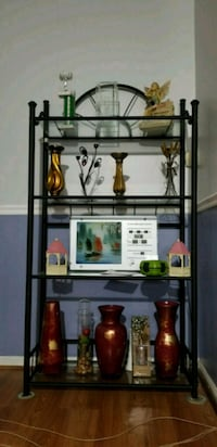 black metal framed glass top rack Virginia Beach, 23464