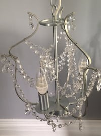 Chandelier 3-armed, silver, glass Toronto, M8Z 3Z7