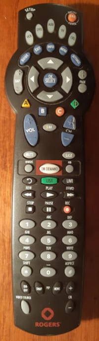 ROGERS Remote Control URC 10566BC3 May 2013  in used condition with surface wear  batteries not ibcluded  (Ref # Bx 2/eb)