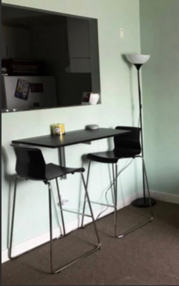 Volfgang ikea bar stool with backrest 1