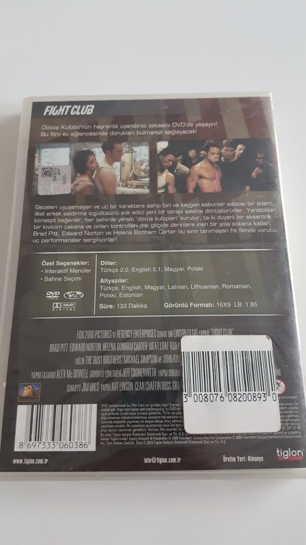Fight Club * SIFIR JELATİNİNDE - DVD FİLM  1