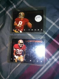 A Steve Young And A Jerry Rice Football Card.