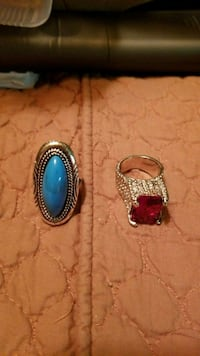 Silver Turquoise Ring $18.00 1129 mi
