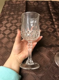 Crystal wine glasses, 7 inches tall