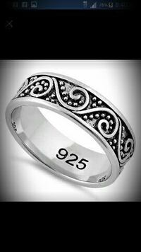 Solid 925 sterling silver band