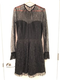 New Pleated Lace Dress