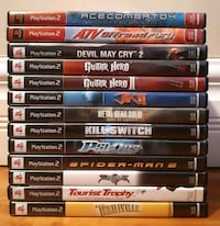 assorted Sony PS2 games Montréal, H1Y 1Z6