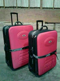 2-piece pink and black softside luggage bags Pico Rivera