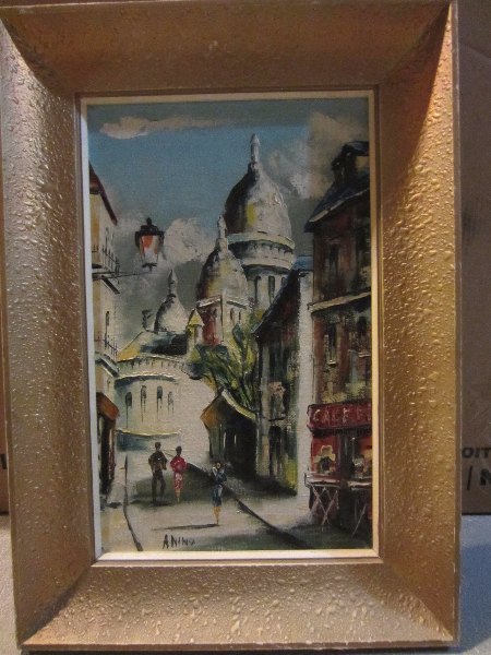 french artist Mario Anino oil painting Paris City Scape Kitchener, ON N2E 4C7, Canada