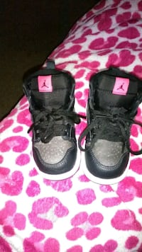 pair of black-and-pink Nike sneakers Durham, 27704