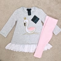 Swan top and leggings size 18m- new Mississauga, L5M 0C5
