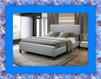 Grey platform bed with mattress& delivery all size District Heights, 20747