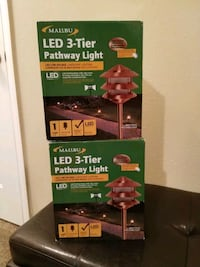 LED 3 tier pathway light set of two new Phenix City, 36867