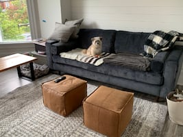 Navy/Dark Grey Couch