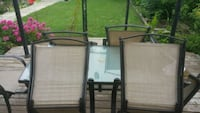 Patio set. 6 chairs and glass table  Brampton, L6Y