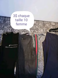 two black and gray pants Laval, H7A 3N5