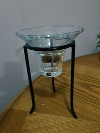 Tall metal and glass tealight / votive candle hold Youngstown, 44515