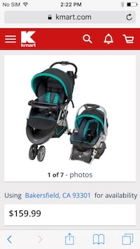 baby's black and teal travel system Bakersfield, 93306