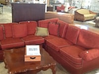 red fabric sofa set Rockville, 20850