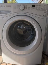 white front-load clothes washer West Valley City, 84119