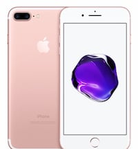 iPhone 7 Plus rose gold got new phone and don't feel the need to hold onto this one anymore phone works perfectly fine no cracks on screen home button is kinda cracked but doesn't affect phone at all phone is unlocked looking for 600 or best offer want go