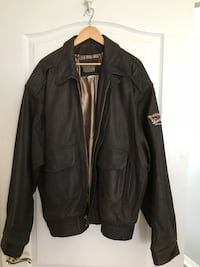 brown leather zip-up leather jacket I Have 2 of these Lutz, 33558