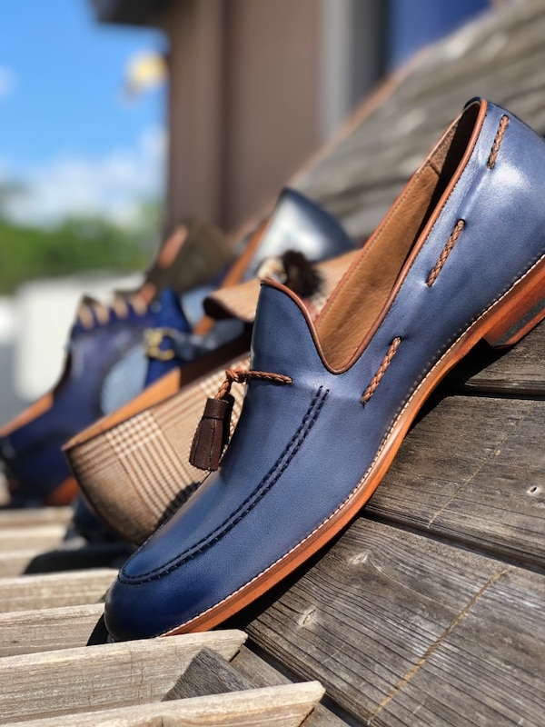 400b9e0ba8 Used pair of blue leather loafers for sale in Tampa - letgo
