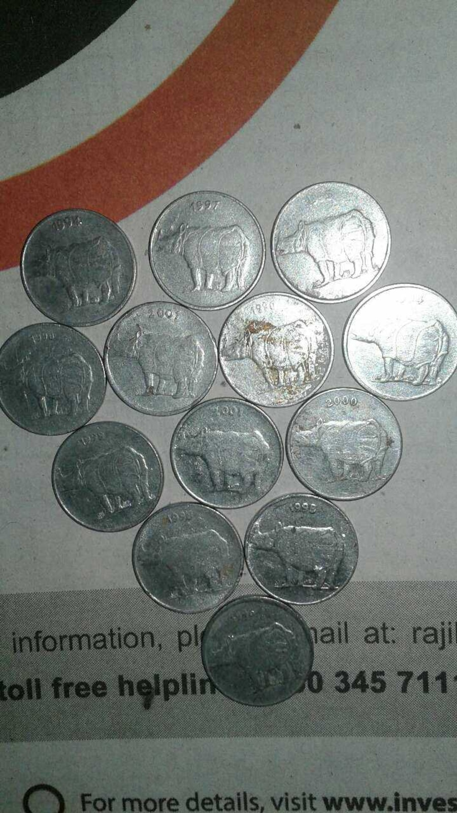 TOTAL COIN ONLY RS 150000 - India