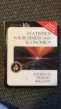 Statistics for business and economics by anderson sweeney williams book Seattle, 98125