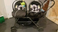 Joovy Roo Twin Stroller with Chicco carseats Alexandria, 22303