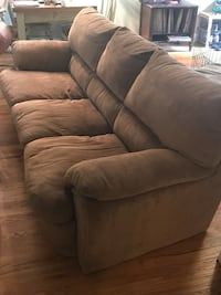 Brown fabric 3-seat sofa, corduroy Glen Cove, 11542