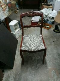 6 rose back dining room. Chairs