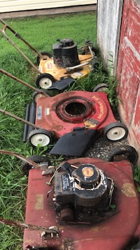 red and black push mower 42 km