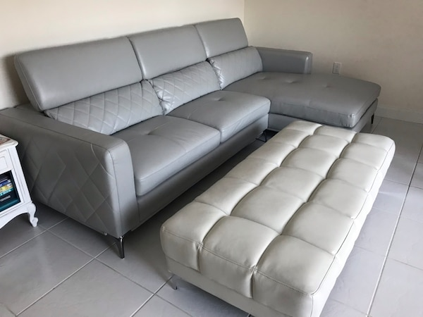 Remarkable Used Leather Sofa Ottoman For Sale In Jupiter Letgo Alphanode Cool Chair Designs And Ideas Alphanodeonline