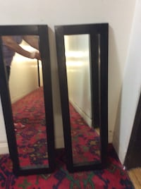 Black wooden framed mirror  2 pices!36 inch length 11 inch width  Toronto, M2R