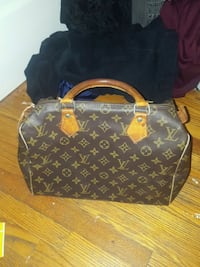 black and brown Louis Vuitton monogram tote bag Toronto, M6S 2C9