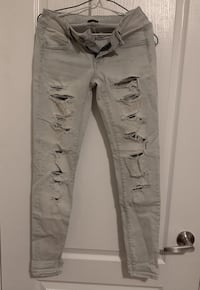 American Eagle Light Wash Distressed Jeans Markham