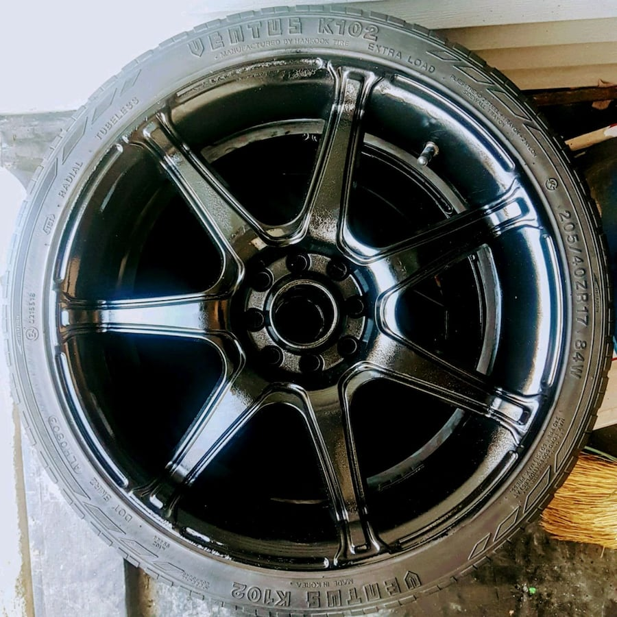 """17"""" 7Spoke Rims & 2 with 60% rubber"""