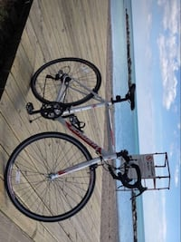 white and black full-suspension bike Toronto, M4K 1A8