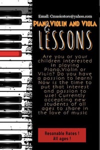 Trial music lesson! Try one music lesson and you'll never regret!  Falls Church, 22041