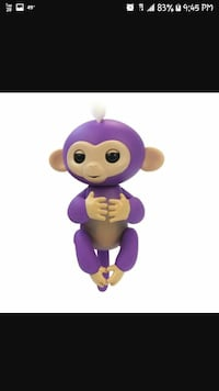 purple and pink monkey plush toy