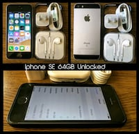 Gray Iphone SE UNLOCKED 64GB w/ Accessories  Arlington