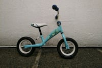 Blue kid's  child's balance bike bicycle Vancouver, V6P 6P5