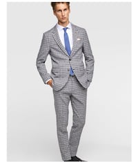 BUY ONE, HALF OFF 2nd - Men's BRAND NEW ZARA Suit sz  [PHONE NUMBER HIDDEN] R Blue/Gray New York, 11415