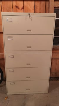 gray steel 5-drawer file cabinet  North Harmony, 14710