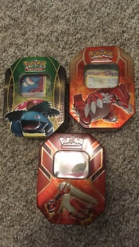 Pokémon cards (all for 40$) 15$ per tin 3771 km