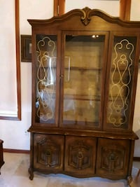Cabinet End tables  antique lamps  ,shop sewing ma