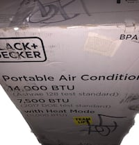 Black & Decker portable air conditioning $70 Las Vegas, 89103